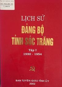 Lịch sử Đảng bộ tỉnh Sóc Trăng tập 1